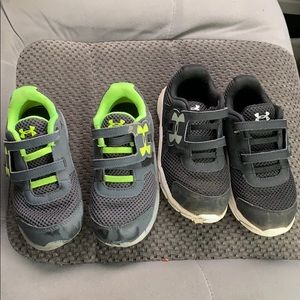 Two Pairs Toddler Boys Sz.10 Under Armour Sneakers
